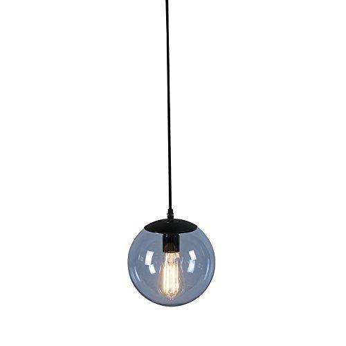 QAZQA Modern Pendelleuchte / Pendellampe / Hängelampe / Lampe / Leuchte Pallon 20 blaugrau Glas / Metall / Kugel / Kugelförmig LED geeignet E27 Max. 1 x 60 Watt