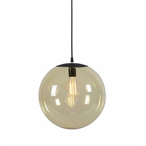 qazqa modern pendelleuchte pendellampe h ngelampe lampe leuchte pallon 35 gelb glas. Black Bedroom Furniture Sets. Home Design Ideas