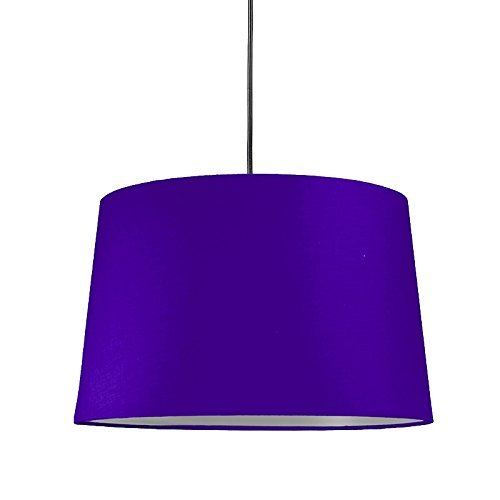 qazqa modern pendelleuchte pendellampe h ngelampe lampe leuchte mit schirm violett rund. Black Bedroom Furniture Sets. Home Design Ideas