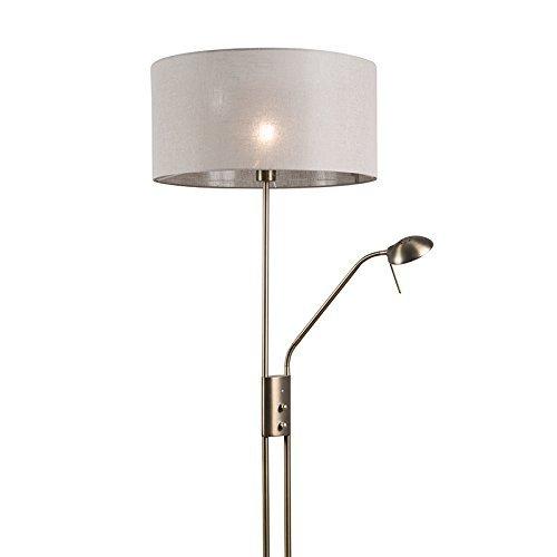 qazqa modern stehleuchte stehlampe standleuchte lampe leuchte luxor bronze mit 50 cm. Black Bedroom Furniture Sets. Home Design Ideas