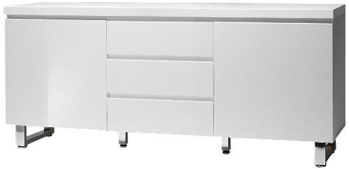 robas lund sideboard kommode sydney hochglanz wei 48904w1 retro stuhl. Black Bedroom Furniture Sets. Home Design Ideas