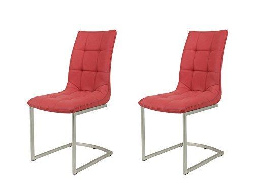 schwingstuhl esszimmerstuhl k chenstuhl freischwingerstuhl stuhl marsala rot kunstleder. Black Bedroom Furniture Sets. Home Design Ideas