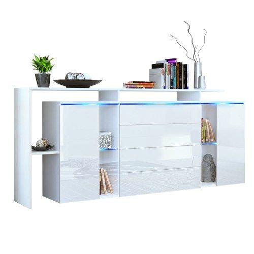 sideboard kommode lissabon v2 korpus in wei matt front in wei hochglanz retro stuhl. Black Bedroom Furniture Sets. Home Design Ideas