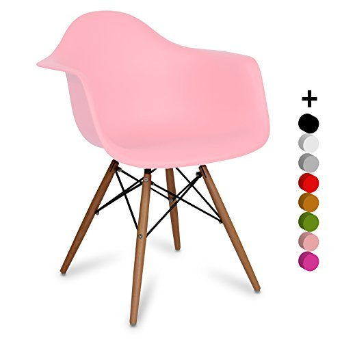 stuhl eames daw style inspiration charles eames light pink 63 x cm 61 x cm 80 cm santani. Black Bedroom Furniture Sets. Home Design Ideas