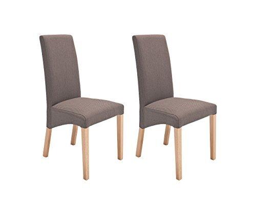 Stuhl Esszimmerstuhl Küchenstuhl Polsterstuhl 2er Set Stoff