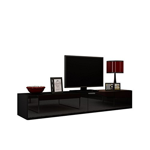 Tv Schrank Vigo = TV Schrank Vigo, Fernsehschrank, TV Lowboard mit Grifflose