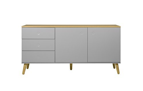 tenzo 1675 612 dot designer sideboard holz grau eiche 43 x 162 x 79 cm retro stuhl. Black Bedroom Furniture Sets. Home Design Ideas