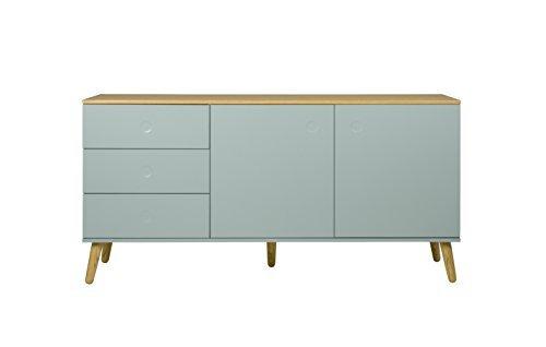 Tenzo 1675 676 Dot Designer Sideboard Holz Pastellgrun Eiche 43