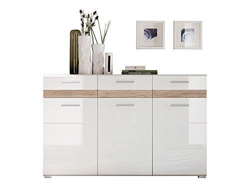 trendteam so kommode sideboard eiche san remo hell. Black Bedroom Furniture Sets. Home Design Ideas