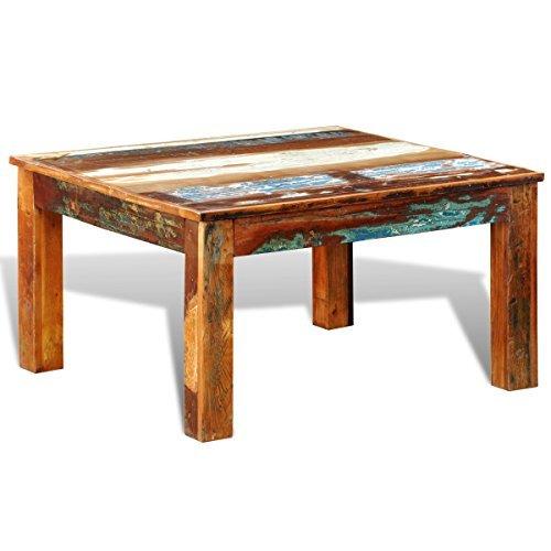 vidaXL Antik Retro Couchtisch Beistelltisch Sofatisch Massivholz Truhe Vintage Teak