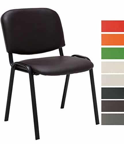 Clp besucher stuhl stapelbar stapel stuhl ken kunstleder for Design stuhl bequem