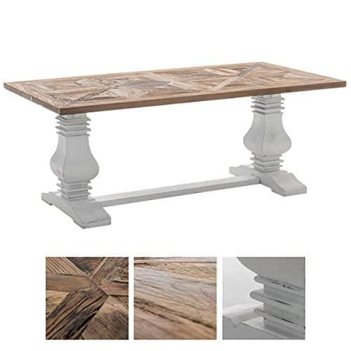 CLP Holz Esszimmer-Tisch TABOA, handgefertigt, Shabby chic Landhaus ...