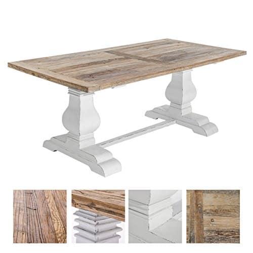 CLP handgefertigter, stabiler Teakholz Esszimmer-Tisch SEVERUS, bis zu 4 Größen wählbar natura, 200x100x78 cm