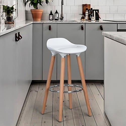 Stühle-Bar Weiß Tresenhocker–Jasmine, Lot de 2 blanc, Lot de 2 blanc