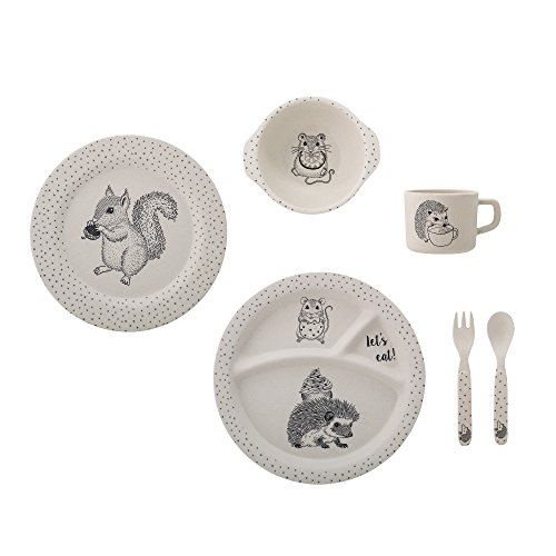 Bloomingville Kinder Geschirr Set Alex, 6er Set, natur