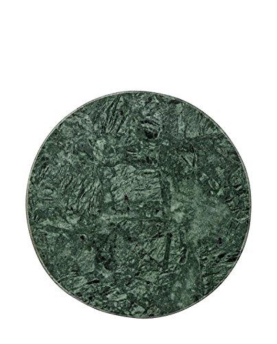Bloomingville Tablett Marmor rund dunkelgrün