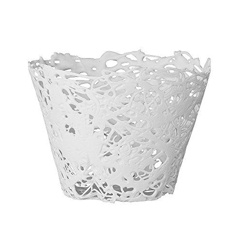 Bloomingville Teelichthalter Laced Weiß (7cm)