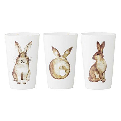Bloomingville Teelichthalter weiß Ostern (3er Set)