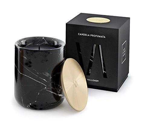 Candela profumata by vallone edle duftkerze im marmor kerzenhalter mit messing und kupfer - Deko kupfer schwarz ...