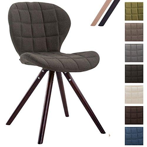 Clp design retro stuhl alyssa bein form rund stoff sitz for Design lounge stuhl