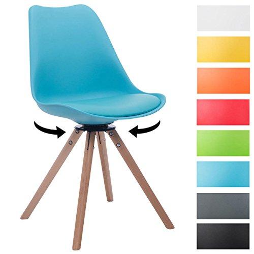 Clp design retro stuhl troyes rund kunststoff lehne for Design stuhl form