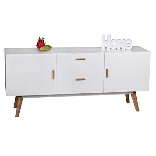 design kommode retro holz wei x x cm sideboard mit with holz wei