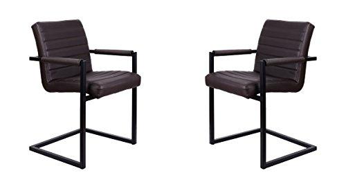 Feel furniture conference stuhl dunkelbraun 2 st ck for Stuhl industriedesign