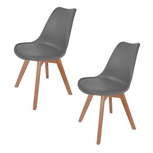 Hollylife 2er set design retro stuhl wohnzimmerstuhl for Design stuhl bequem