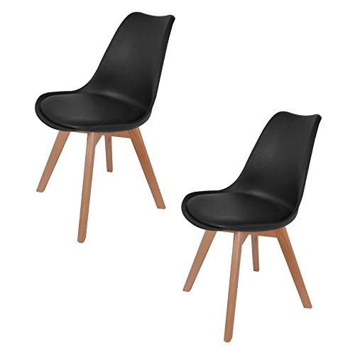 hollylife 2er set esszimmerst hle mit massivholz bein retro design gut gepolstert. Black Bedroom Furniture Sets. Home Design Ideas