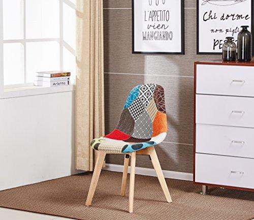 p n homewares patchwork stoff stuhl eames dsw stuhl 3 retro stuhl. Black Bedroom Furniture Sets. Home Design Ideas