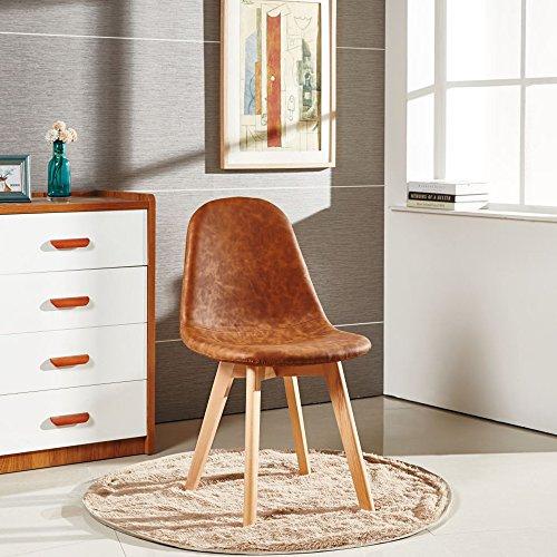 P & N Homewares Alexander Tulip Chair Stuhl Retro Inspiriert, Kunststoff Esszimmer Büro Meeting Stuhl in Earth Farben mahagoni