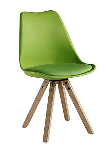 P & N Homewares® Sofia Eiffelturm inspiriert Stuhl aus Kunststoff Retro Weiß Schwarz Grau Rot Gelb Pink Grün Blau grün