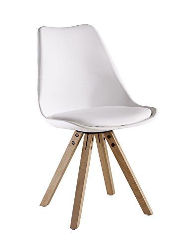 P & N Homewares® Sofia Eiffelturm inspiriert Stuhl aus Kunststoff Retro Weiß Schwarz Grau Rot Gelb Pink Grün Blau weiß