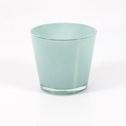 Set 2 x bertopf runde glas vase alena mint 15 cm for Runde esszimmertische modern