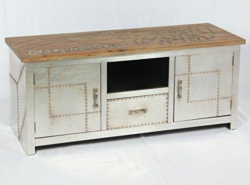 Vintage Lowboard Industrie Design Sideboard Retro Tv Board Alu