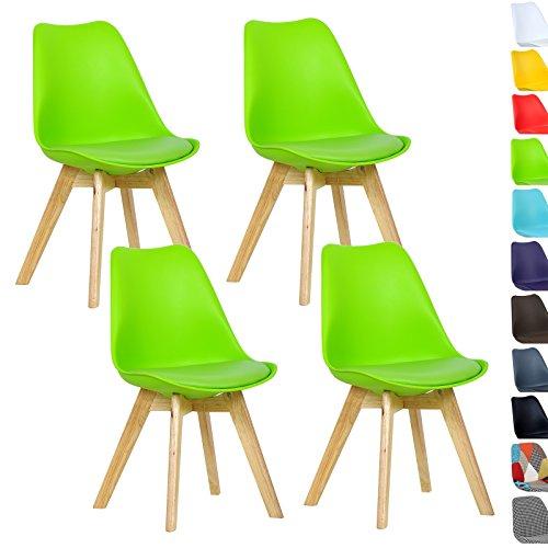 woltu 4er set esszimmerst hle k chenstuhl design stuhl esszimmerstuhl kunstleder holz neu. Black Bedroom Furniture Sets. Home Design Ideas