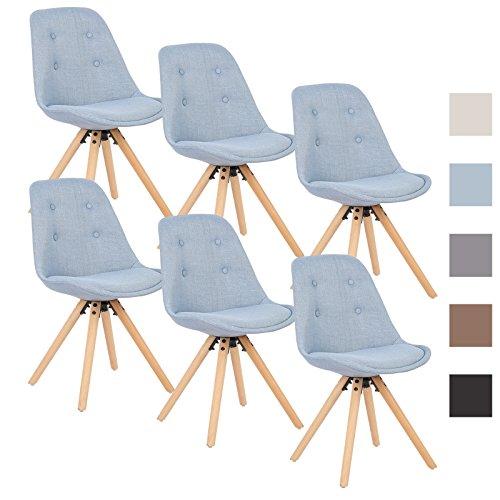 woltu bh54hbl 6 6 x esszimmerst hle 6er set. Black Bedroom Furniture Sets. Home Design Ideas