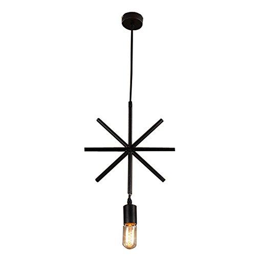hahaemall Mini Edison Anhänger einflammig Industrie Edison Schmiedeeisen Hängeleuchte schwarz Loft Country rustikal