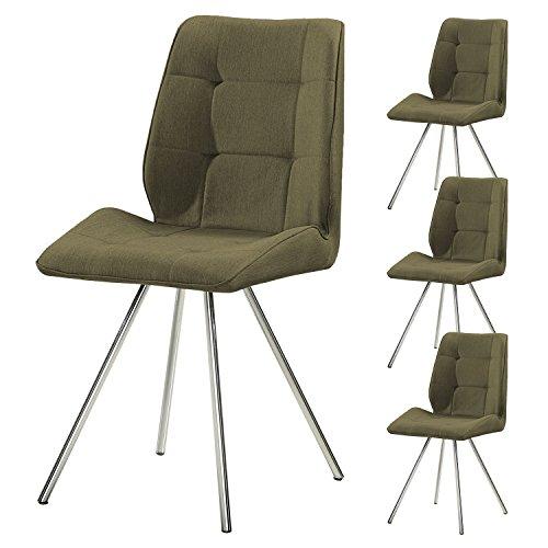 4er set svita esszimmer stuhl stoffbezug wohnzimmerstuhl retro design gepolstert farbwahl gr n. Black Bedroom Furniture Sets. Home Design Ideas