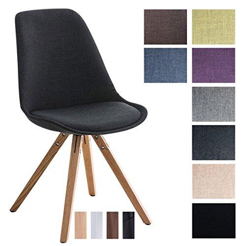 Clp design retro stuhl pegleg square stoffbezug for Design schalenstuhl