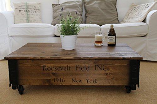 couchtisch truhe holzkiste beistelltisch vintage shabby chic landhaus massivholz nussbaum. Black Bedroom Furniture Sets. Home Design Ideas