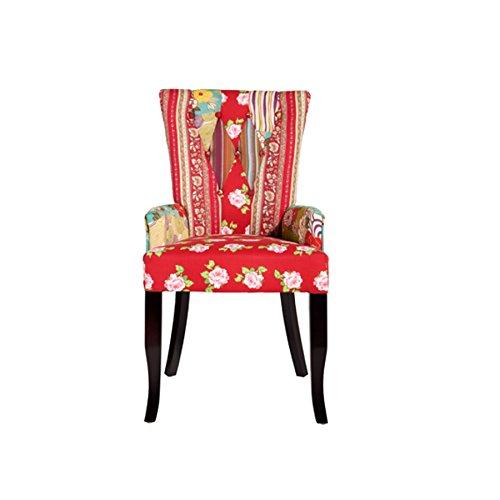 design patchwork stuhl ibiza mehrfarbig textil mit armlehne polsterstuhl sessel wohnzimmer. Black Bedroom Furniture Sets. Home Design Ideas