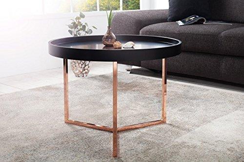 Dunord design couchtisch beistelltisch triton 60cm schwarz for Tisch retro design