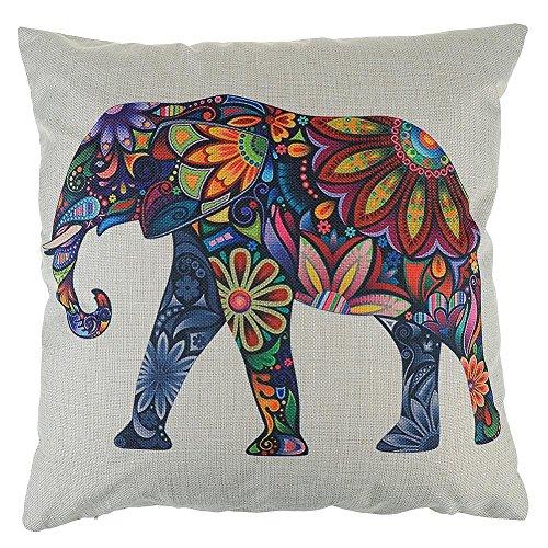 elefant leinen kissenbezug weihnachtsdeko wohnzimmer dekoration sofa sessel zierkissenh lle. Black Bedroom Furniture Sets. Home Design Ideas