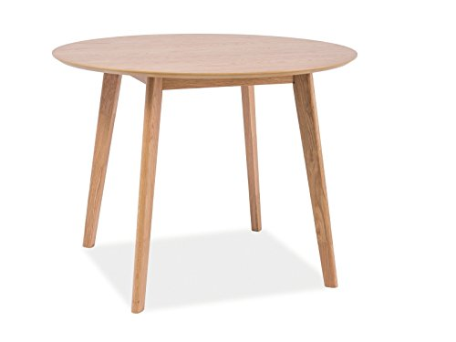Esstisch esszimmertisch holztisch echtholztisch milo ii in eiche natur 100 cm durchmesser rund - Esstisch skandinavisches design ...