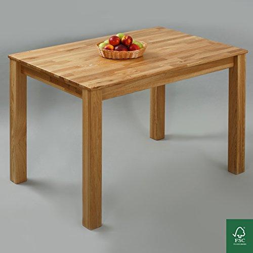 Esstisch massivholz eiche 100 fsc bonn esszimmertisch for Esszimmertisch massivholz