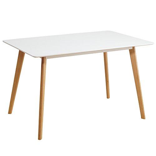 esstisch wei 120 x 80 cm holzbeine esszimmertisch tisch retro retrolook skandinavisch retro stuhl. Black Bedroom Furniture Sets. Home Design Ideas
