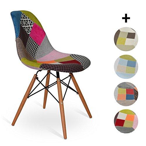 Esszimmerstuhl Wood Style - Patchwork - 48 x cm 55 x cm 83.5 cm - SANTANI MOBILI