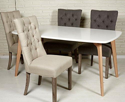 Esszimmertisch 160x90 cm Massivholz im skandinavischen Stil Küchentisch Tisch