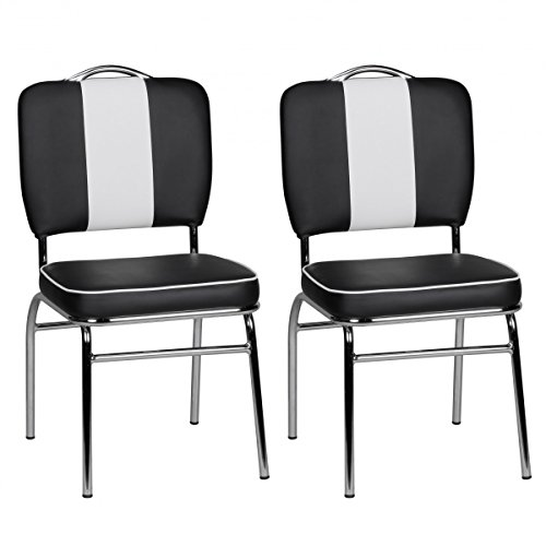 finebuy 2er set esszimmerst hle king american diner 50er. Black Bedroom Furniture Sets. Home Design Ideas